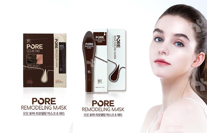 Set lột mụn đầu đen Yu.R Skin Solution Pore Clear Pad và YU.R Pore Remodeling Cleansing Mask chỉ 280.000đ bán tại Bo Shop