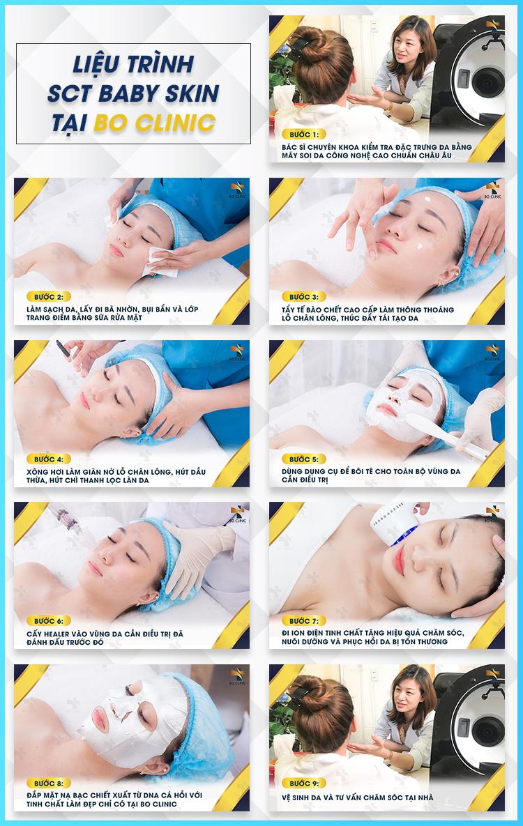 Liệu trình STC Baby Skin khoa học, đem lại làn da trắng sáng, mịn mượt