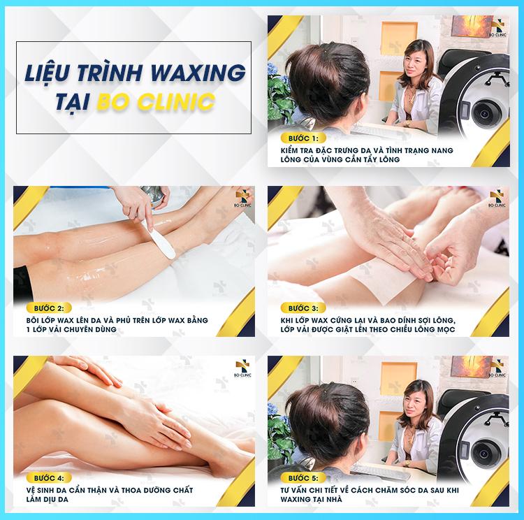 Liệu trình waxing tại Bo Clinic nhanh chóng đem lại làn da sạch mịn