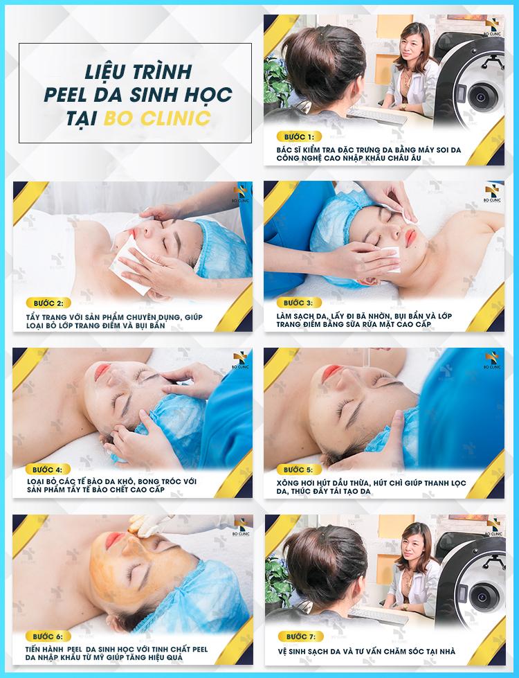 Peel da sinh học tại Bo Clinic với mỹ phẩm độc quyền, an toàn cho da
