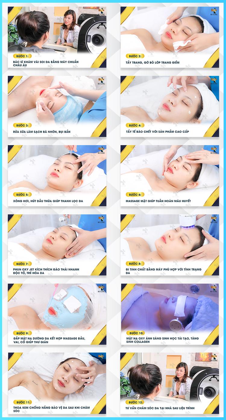 Liệu trình chăm sóc da Oxy Jet kết hợp dưỡng chất tại Bo Clinic