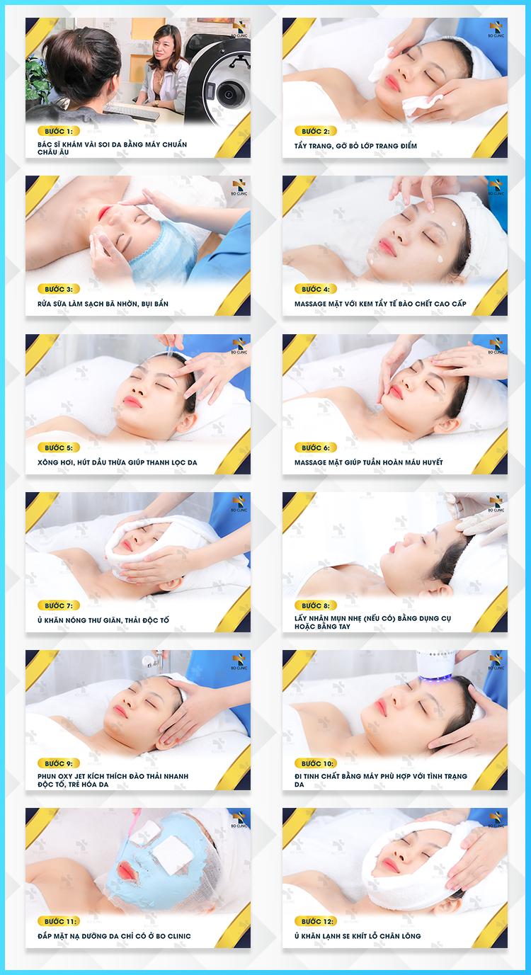 Liệu trình chăm sóc da Oxy Jet tại Bo Clinic