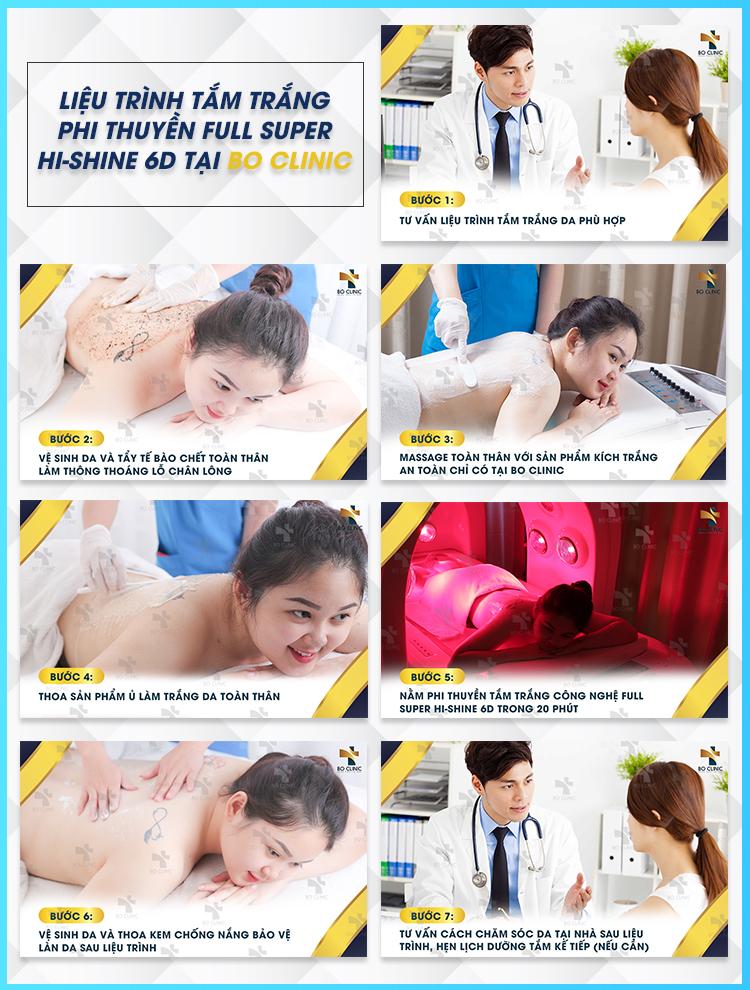 Liệu trình tắm trắng phi thuyền Full Super Hi shine 6D tại Bo Clinic