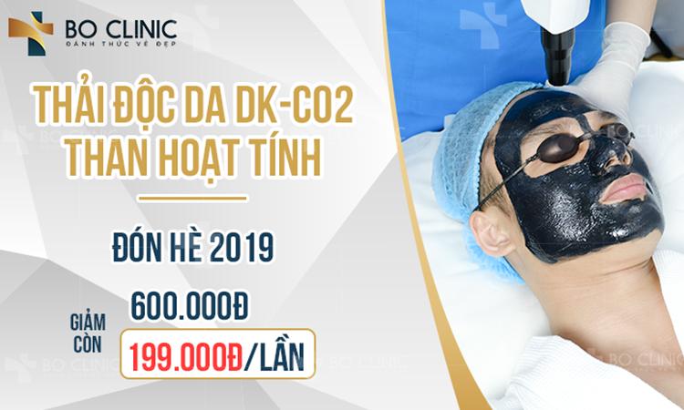 Liệu trình thải độc da than hoạt tính DK CO2 tại Bo Clinic với chương trình ưu đãi hấp dẫn