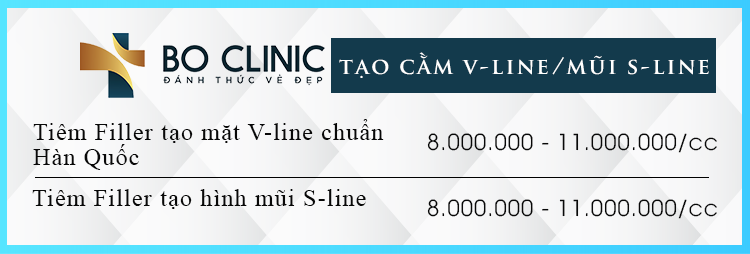 Bảng giá dịch vụ tạo hình cằm Vi-line và mũi S-line