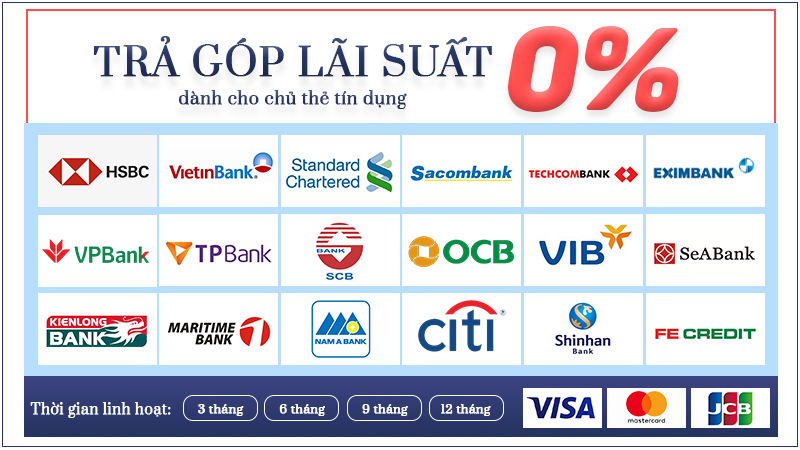 Trả góp 0% tại Bo Clinic áp dụng hầu hết các ngân hàng tại Việt Nam