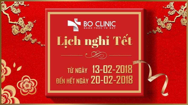 Bo Clinic thông báo lịch nghỉ Tết Nguyên Đán 2018