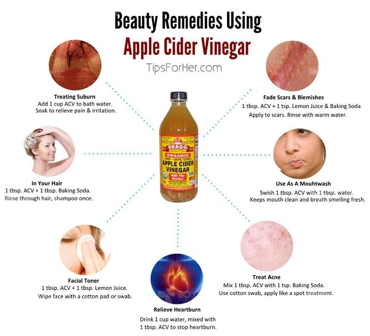 Giấm táo là thành phần không thể thiếu trong các công thức làm đẹp tự nhiên