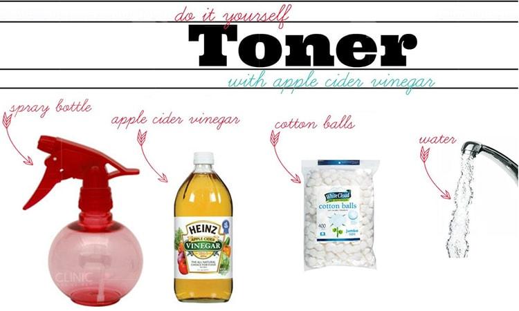 Nguyên liệu chuẩn bị làm toner giấm táo trị mụn và thâm hiệu quả nhất