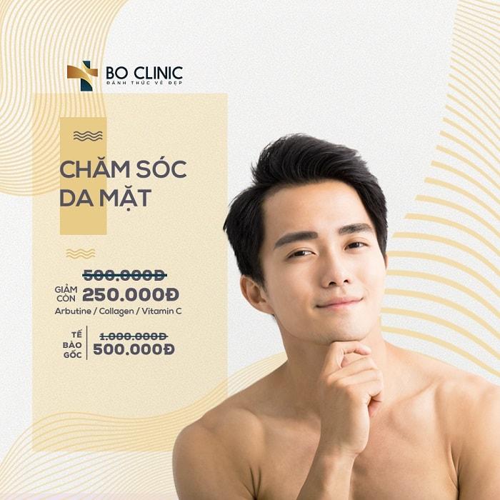 CHĂM SÓC DA MẶT OXY JET 250K TẠI BO CLINIC