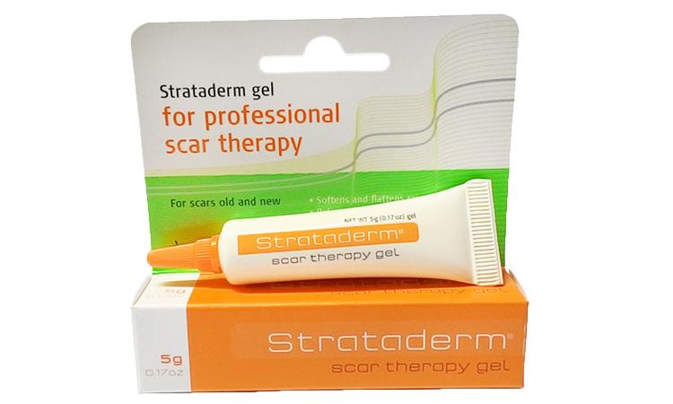 Gel trị sẹo rỗ Strataderm có tác dụng trị sẹo rỗ, sẹo lồi và các sẹo lâu năm