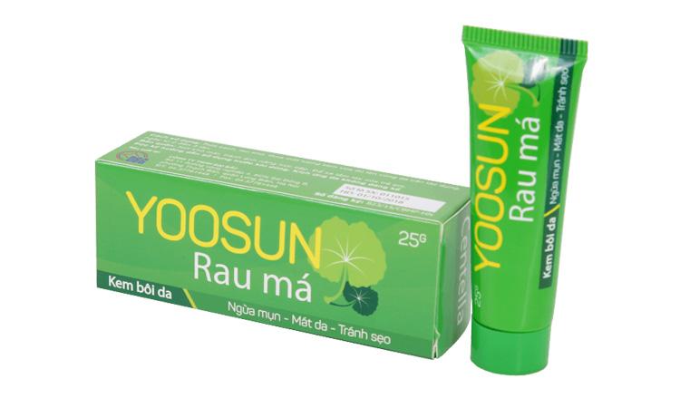 Kem trị sẹo Yoosun có chiết xuất từ rau má nên có tác dụng kháng viêm, trị sẹo hiệu quả