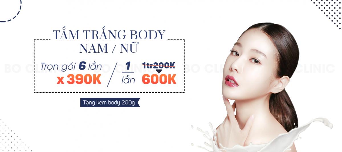 Tắm trắng phi thuyền chỉ 390K tặng kem dưỡng Body Hàn Quốc 200gr