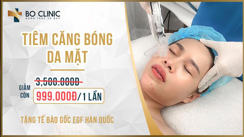 Tiêm căng bóng da mặt tại Bo Clinic cho bạn làn da căng mịn trong thời gian ngắn