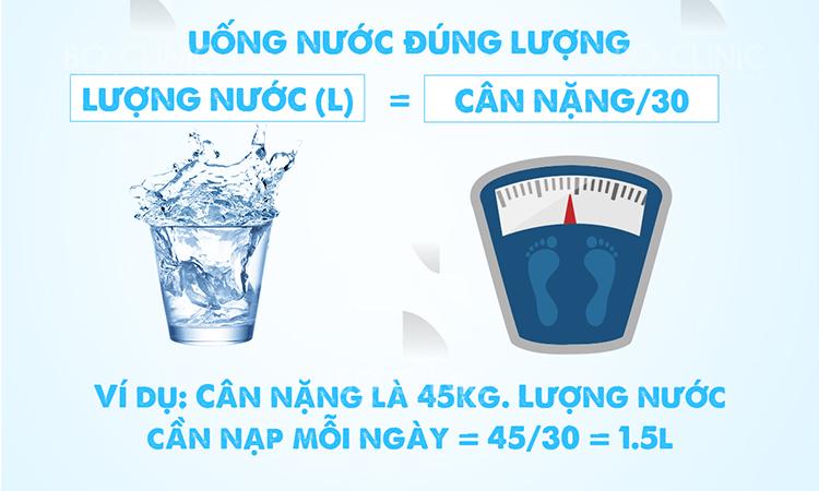 Lượng nước cần nạp vào mỗi ngày