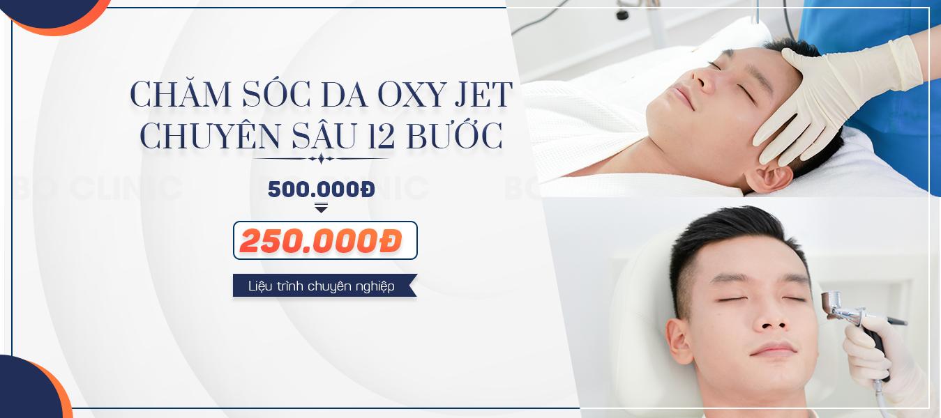 Chăm sóc da Oxy Jet chuyên sâu với 12 bước đem lại vẻ đẹp trai chuẩn soái ca