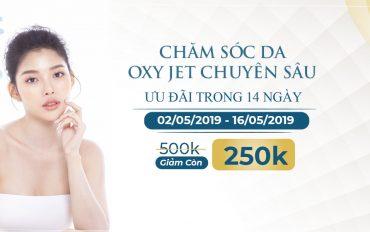 Liệu trình chăm sóc da Oxy Jet ưu đãi 50%