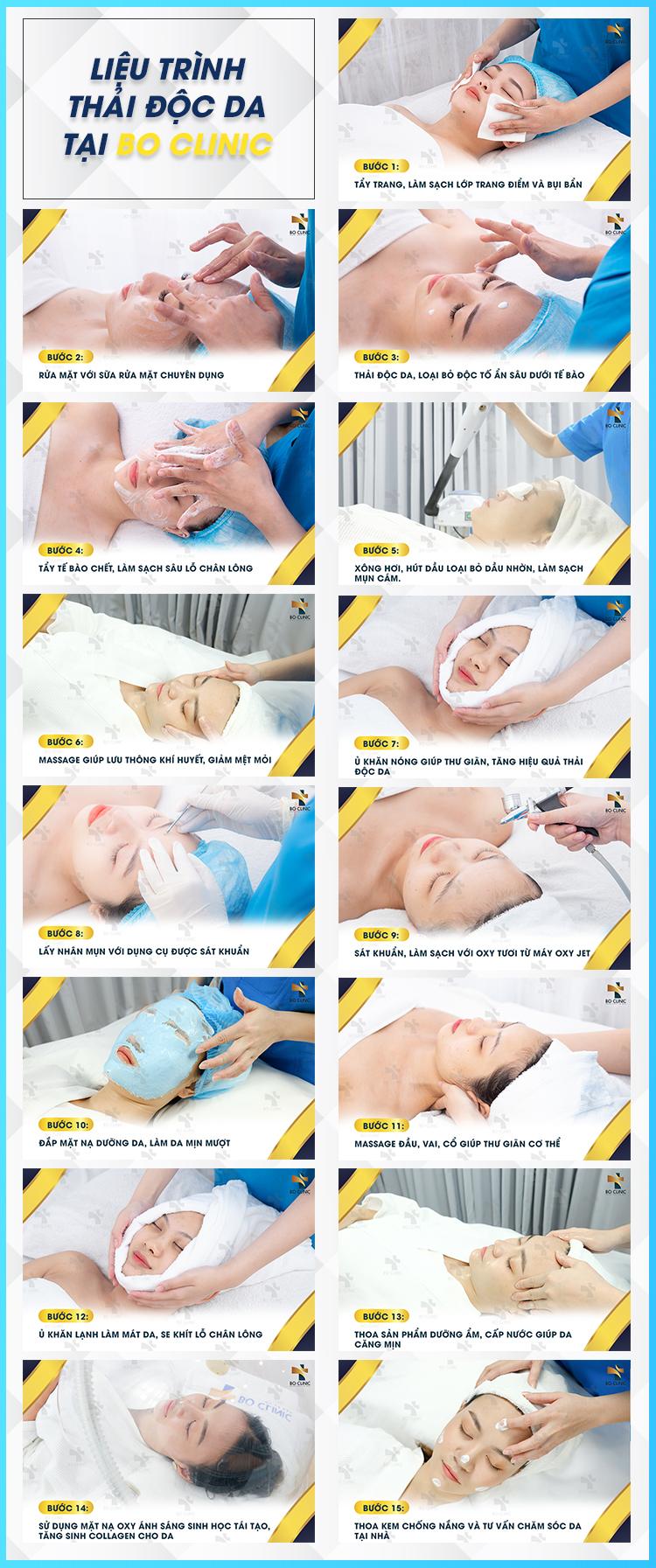 Liệu trình thải độc da tại Bo Clinic nhanh chóng đem lại làn da sạch sâu, trắng sáng