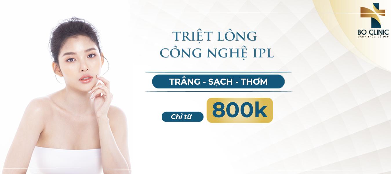 Triệt lông công nghệ IPL chỉ với 800k đem lại cho bạn gái làn da trắng sạch mịn màng