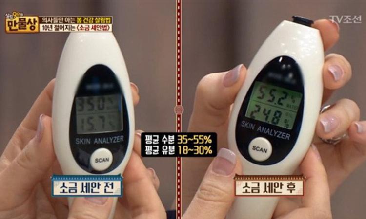 Độ ẩm và độ dầu của làn da sau khi áp dụng phương pháp này