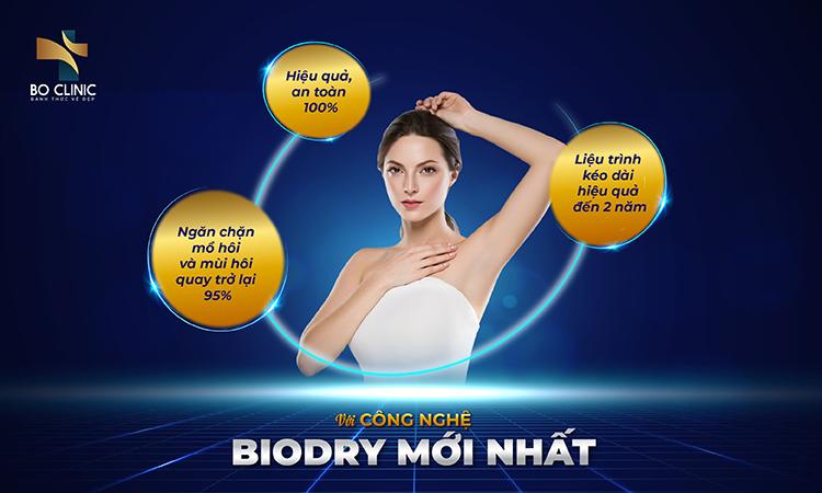 Trị hôi nách với BioDry